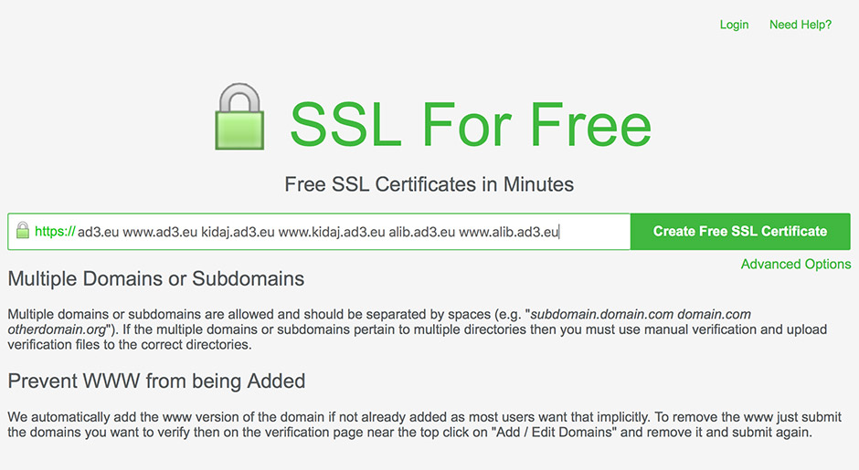 1-ssl-for-free